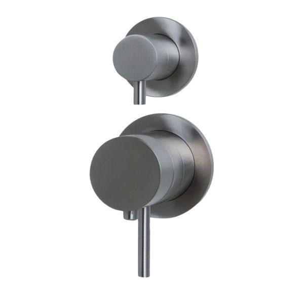 RVS inbouw thermostaat met omstelknop