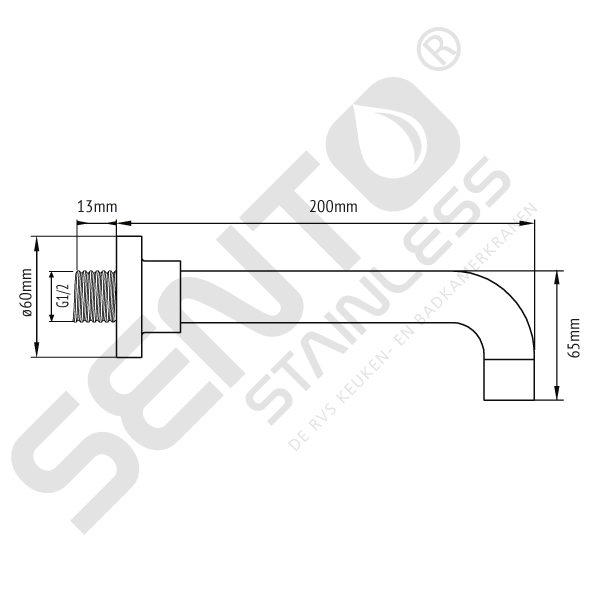 RVS uitloop Sento Stainless SWW200
