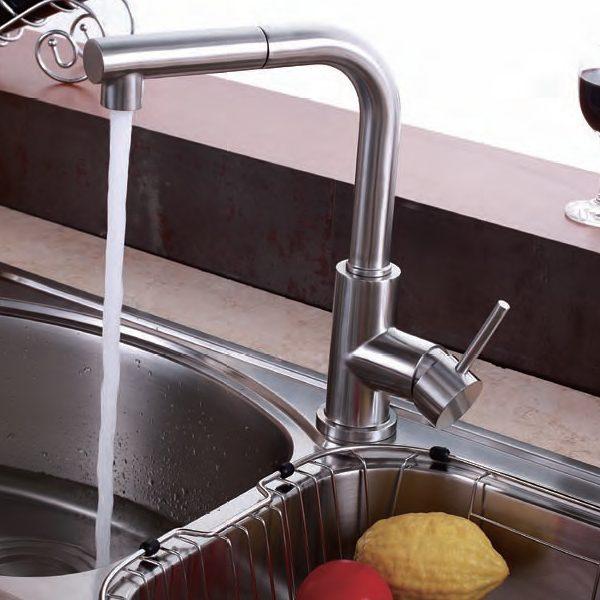 RVS keukenkraan uittrekbaar Sento Stainless
