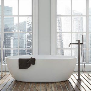 Eigen Badkamer Ontwerpen RVS badkraan